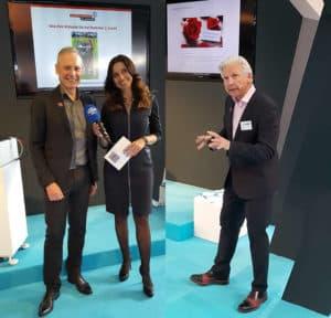 Thomas Issler, Volker Geyer und Natascha Zillner bei der IHM