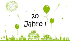 20-jähriges Firmenjubiläum