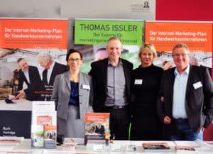 Internet-Marketing im Handwerk Stand mit Thomas Issler, Michaela Herrmann, Margit Wellenreuther und Gerd Ziegler