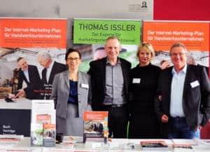 Thomas Issler, Michaela Herrmann, Margit Wellenreuther und Gerd Ziegler beim Internet-Marketing-Tag im Handwerk