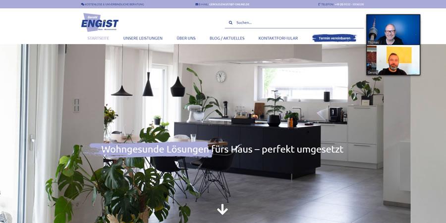 Website Gerold Engist: Maler, Blogger und Aufklärer