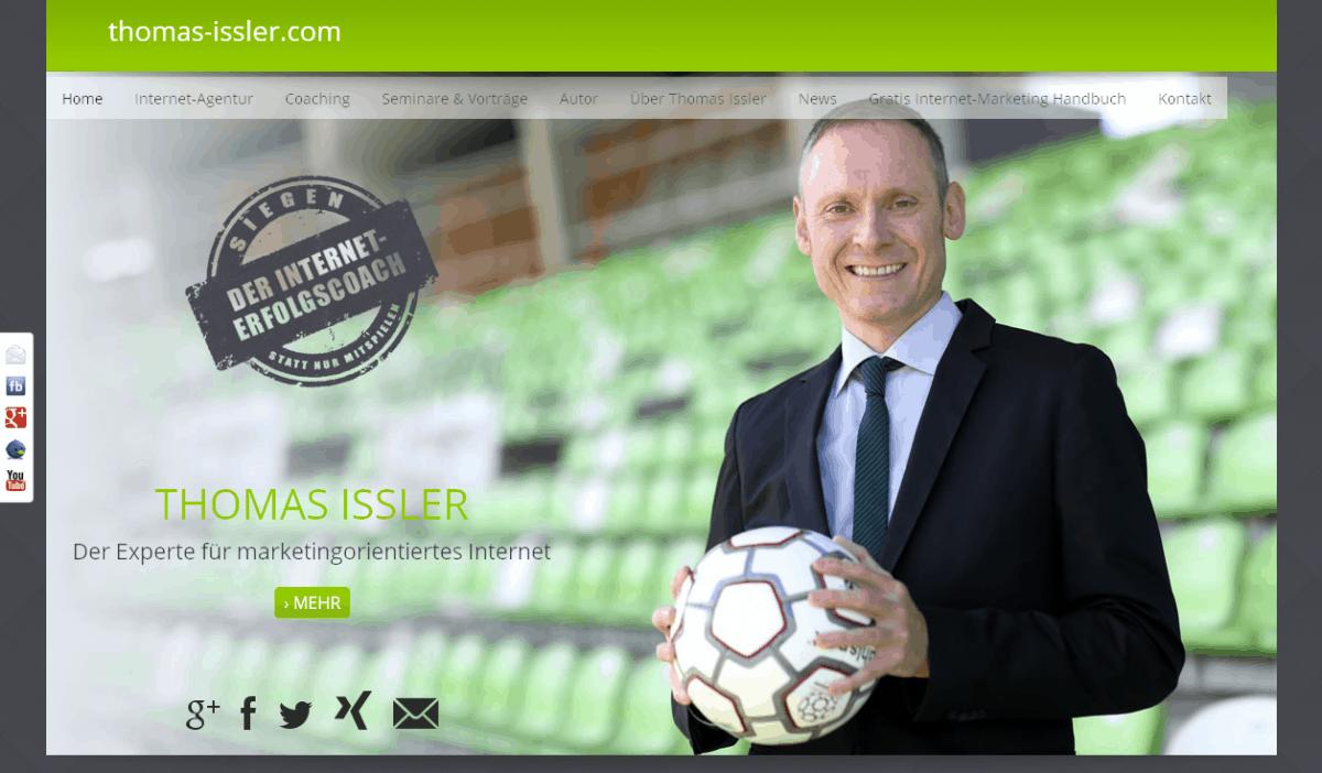 Relaunch Trainer-Website von Thomas Issler